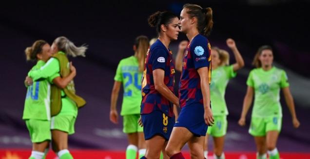 שחקניות ברצלונה מאוכזבות לרקע החגיגות (רויטרס)