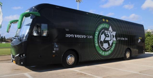 האוטובוס החדש של מכבי חיפה (האתר הרשמי של מכבי חיפה)