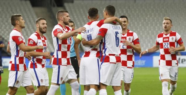 שחקני קרואטיה חוגגים (רויטרס)