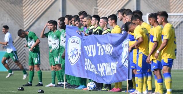 שחקני הנוער של מכבי ת&qout;א ומכבי חיפה (חגי מיכאלי)