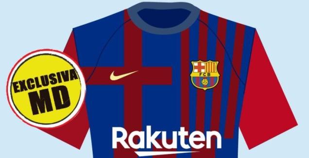 החולצה של ברצלונה לעונת 2021/22, לפי מונדו דפורטיבו (מערכת ONE)