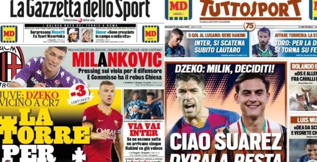הכותרות באיטליה (מערכת ONE)