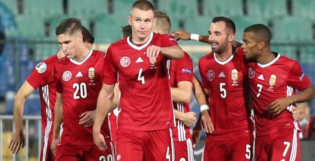 שחקני הונגריה חוגגים (רויטרס)
