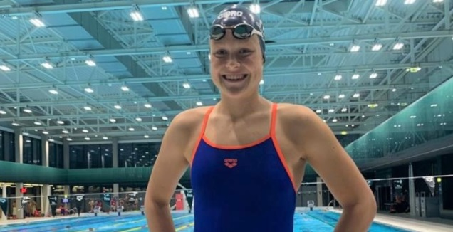 אנסטסיה גורבנקו לאחר המשחה (באדיבות איגוד השחייה)