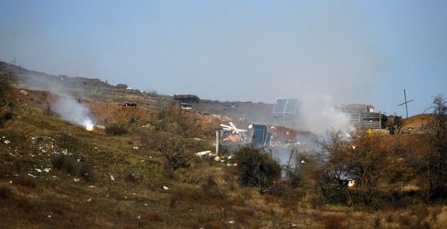 ארמנים נלחמים בגבול עם קרבאח (רויטרס)