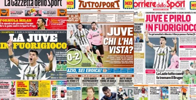 העיתונים באיטליה (צילום מסך)