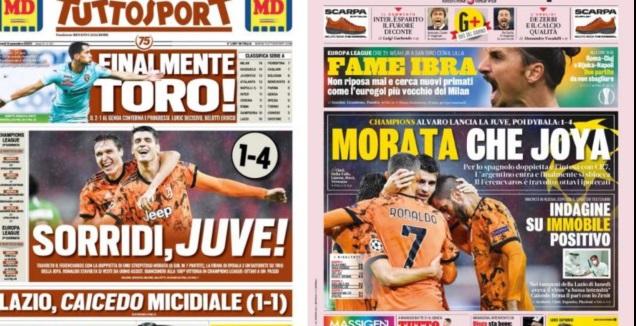 שערי עיתוני איטליה אחרי פרנצווארוש (צילום מסך)