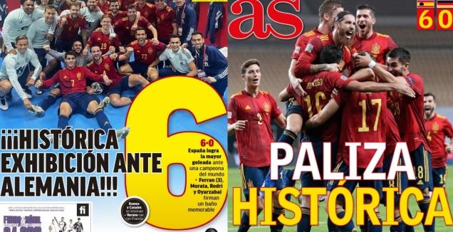 שערי העיתונים בספרד (צילום מסך)