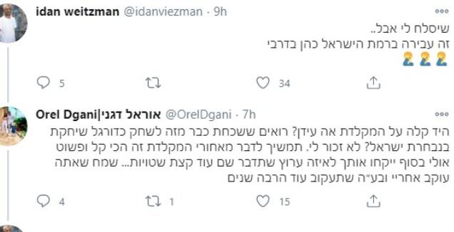העימות בטוויטר בין ויצמן לדגני (טוויטר)