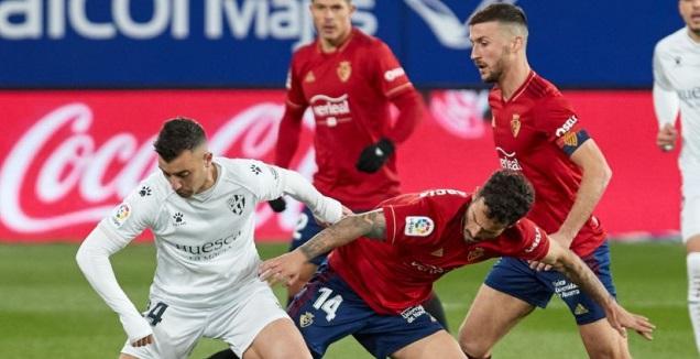 רובן גארסיה נאבק על הכדור (La Liga)