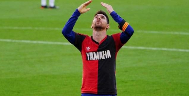ליאו מסי מקדיש את השער למראדונה (La Liga)