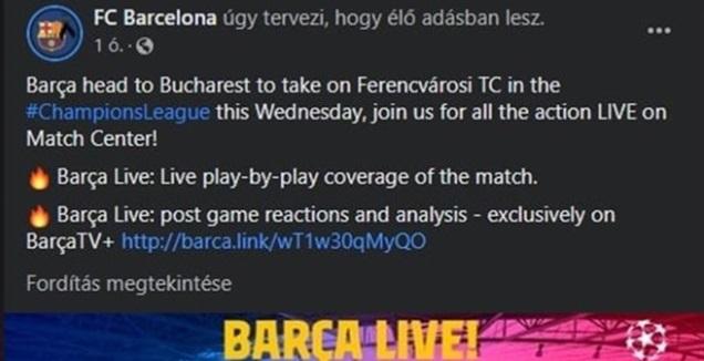 הפאדיחה של ברצלונה בפייסבוק (צילום מסך)