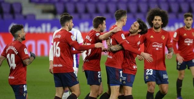 שחקני אוססונה חוגגים (La Liga)