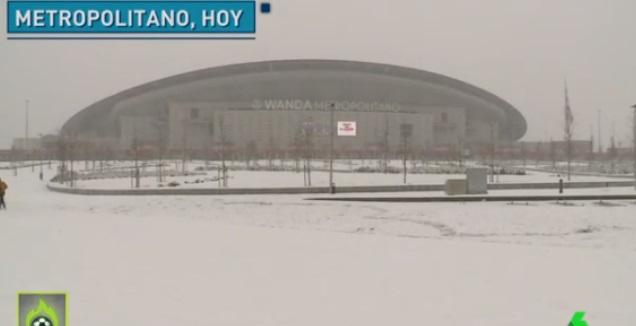 השלג במטרופוליטנו (צילום מסך)