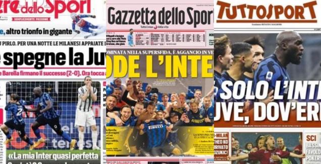 שערי העיתונים באיטליה 18.01.2021 (צילום מסך)
