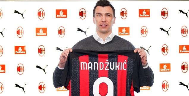 מריו מנדז'וקיץ' מוצג במילאן (האתר הרשמי של מילאן)