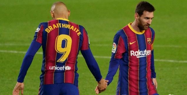 ליאו מסי ומרטין בריית'ווייט (La Liga)