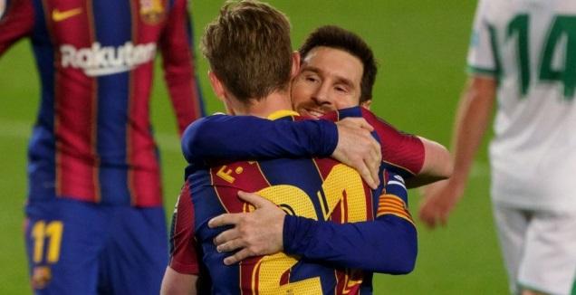 ליאו מסי ופרנקי דה יונג (La Liga)