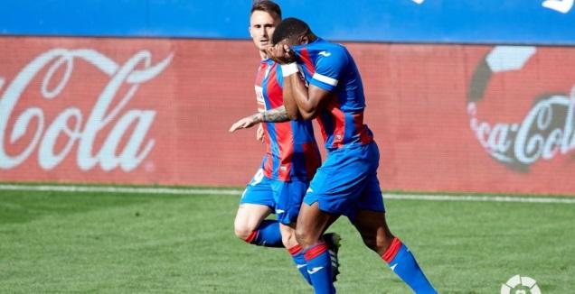 פאפא דיוף חוגג את שער השוויון (La Liga)