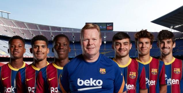 קומאן והצעירים של ברצלונה (רויטרס, La Liga)