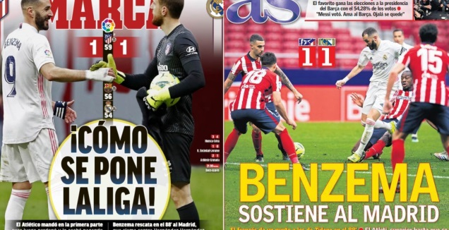 כותרות העיתונים במדריד (טוויטר)