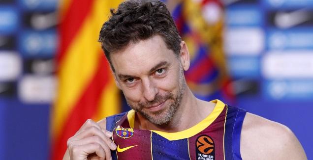 פאו גאסול מוצג בברצלונה (רויטרס)