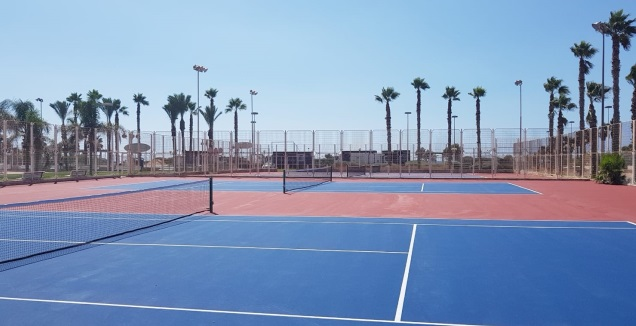 מרכז הטניס (צילום: עיריית נהריה) (מערכת ONE)