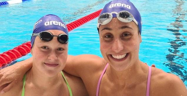 אנדי מורז ואנסטסיה גורבנקו  (צילום: איגוד השחייה)
