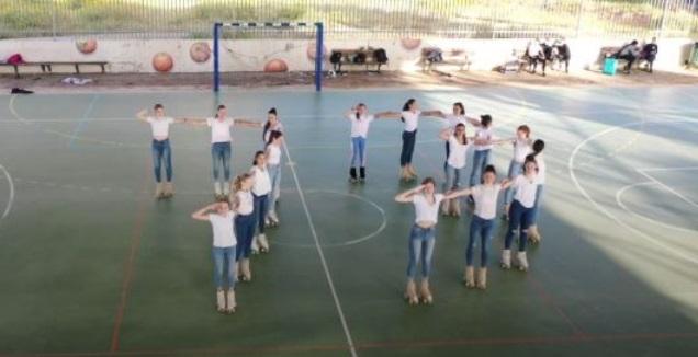 נבחרת ישראל בגלגיליות אומנותי (צילום מסך)