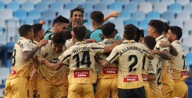 שחקני אספניול חוגגים עלייה (La Liga)