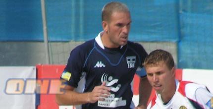 צחי אילוז במהלך המשחק מול רוסיה