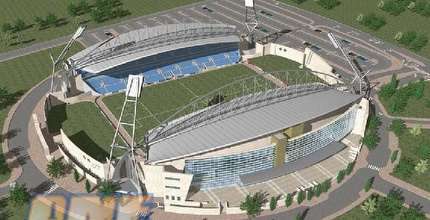 האצטדיון החדש בנתניה. יקום ב-2012
