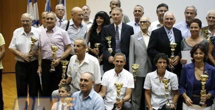 משתתפי הטקס עם הפרסים (יניב גונן)