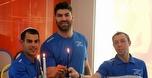הספורטאים האולימפיים הדליקו נרות עם תלמידים