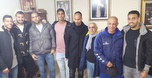 שחקני מכבי הדליקו נרות עם מני לוי ומשפחתו