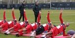 קורצקי העביר אימון בכורה עם עשרה שחקנים