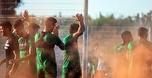 כ-150 אוהדי מכבי חיפה הדליקו אבוקות באימון