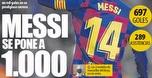 1,000 שערים: השיא שאותו מסי ינסה לנפץ העונה