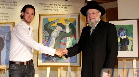 הרב ישראל מאיר לאו ודניאל מושקט