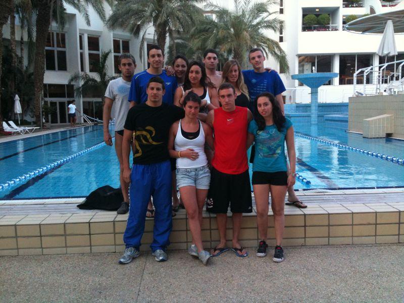 נבחרת ישראל במחנה אימונים באילת