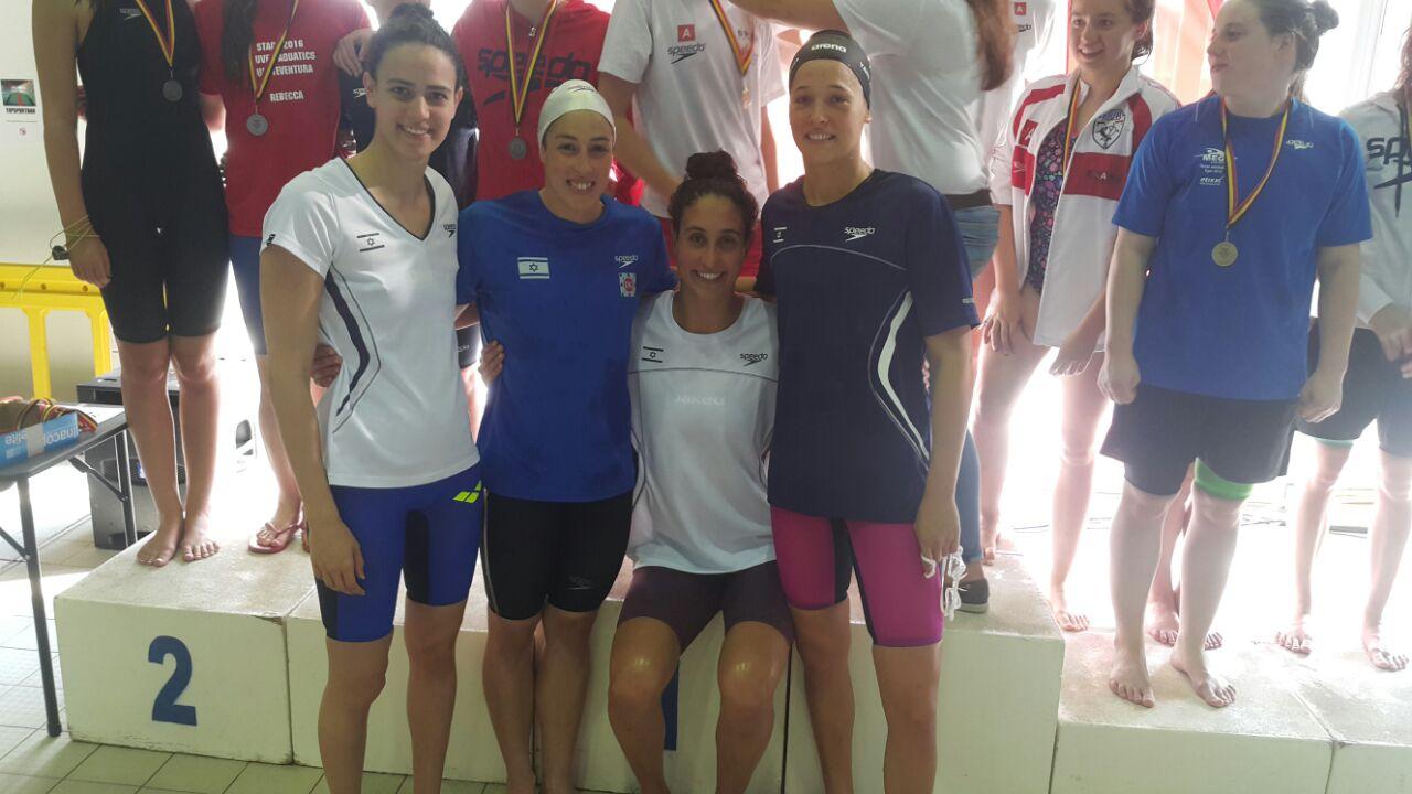 נבחרת השליחות הישראלית ניצחה וקבעה שיא ישראלי באליפות בלגיה הפתוחה