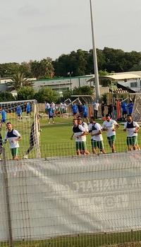 שחקני מכבי חיפה באימון (מערכת ONE)