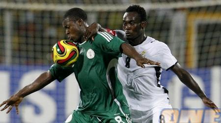 יעקובו מול אסיין. מספר 8 הניגרי מול הגנאי. יעדרו מאליפות אפריקה (רויטרס)
