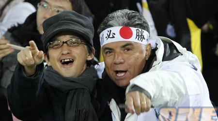 אוהדי סאנטוס ביפן. מאוכזבים עד עתה מהתוצאה (רויטרס)