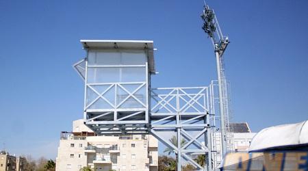 עמדת השידור באצטדיון (ליאור טימור)