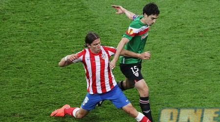 פיליפה לואיס ואיראולה נאבקים על הכדור (GettyImages)