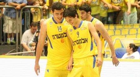 עידן זלמנסון (משמאל) בימיו במכבי תל אביב (חגי ניזרי)