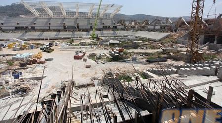 האצטדיון החדש בחיפה. בעוד כחצי שנה זה קורה (עמית מצפה)