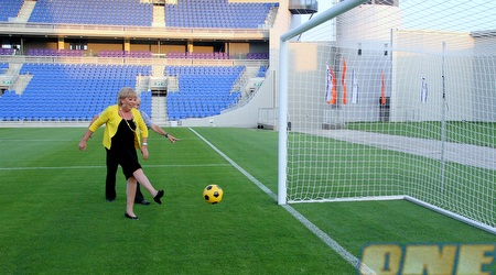 פרייברג, הראשונה לכבוש שער באצטדיון (יניב גונן)
