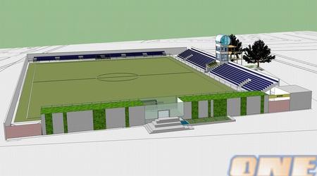 מבעט מלמעלה על האצטדיון המשודרג